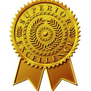 Starburst Ribbon Embossed Gold Foil Certificate Seal