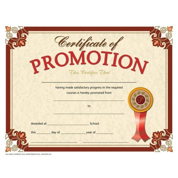 Academic certificate of promotion
